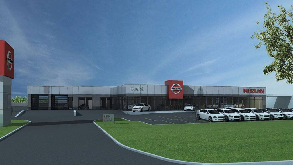 Guelph Nissan Service Department Rendering