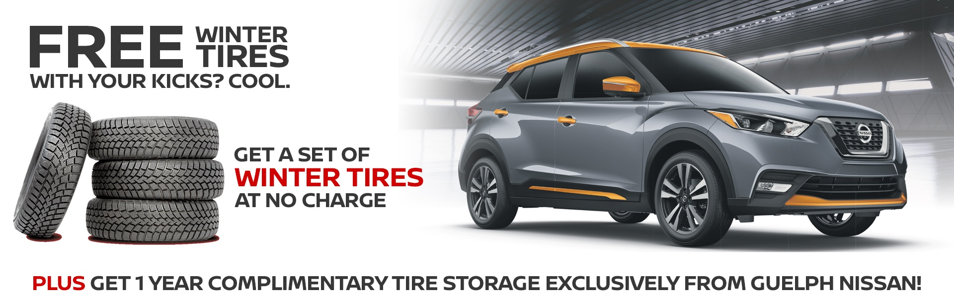 Guelph Nissan Kicks Free Winter Tires Event, Only until September 30th
