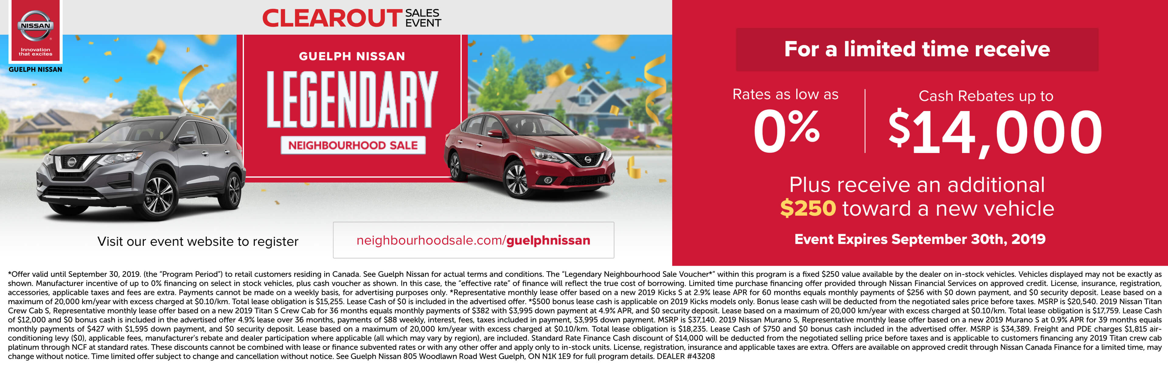 clearout sales event | Guelp Nissan